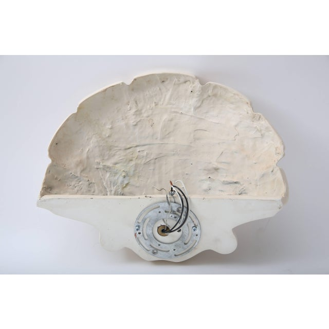 Fiberglass Scallop Clam Shell-Form Wall Sconces by Sirmos - a Pair For Sale - Image 7 of 10
