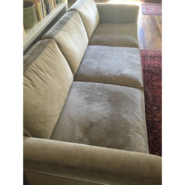 Mid-Century Reupholstered Taupe Sofa - Image 2 of 6
