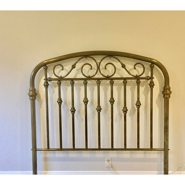 Antique Brass Headboard For Sale - Image 5 of 5