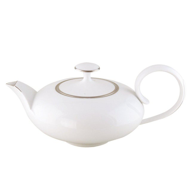 """Traditional """"Ena"""" Teapot with Platinum Rim by Ena Rottenberg For Sale - Image 3 of 3"""