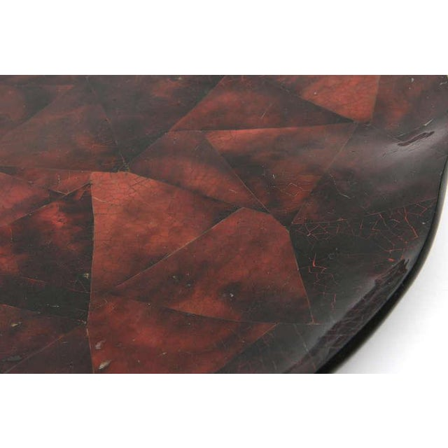 Shell 1970s Boho Chic Maitland Smith Tesselated Coconut Shell Tray For Sale - Image 7 of 11