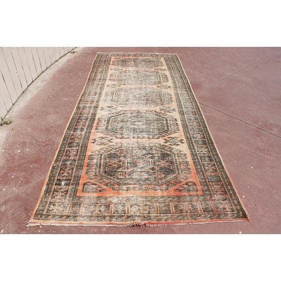 "Turkish Tribal Bohemian Runner Rug - 4'8"" x 11'1"" For Sale - Image 4 of 7"