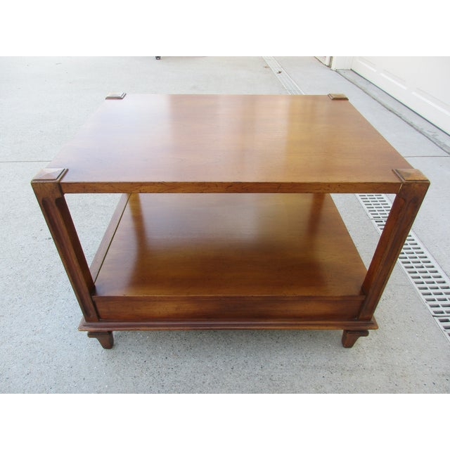 Mid-Century Modern Mid-Century Modern Fine Arts Furniture Co. Two-Tiered Side Table For Sale - Image 3 of 11
