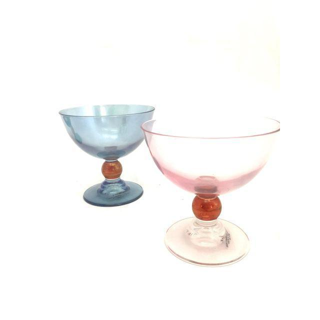 Blue & Pink Parfait Dishes - Set of 4 - Image 4 of 7