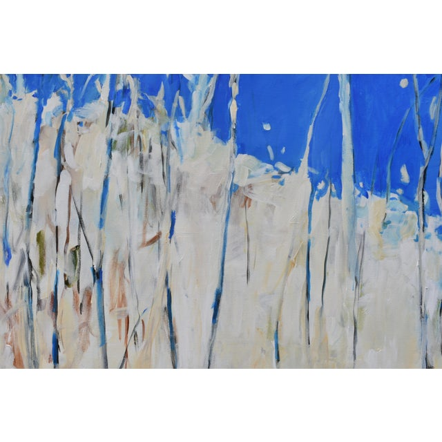 """Stephen Remick Abstract Painting, """"Have You Ever Seen a Sky So Blue"""", by Stephen Remick For Sale - Image 4 of 10"""