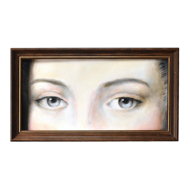 Antique Lover's Eyes Painting by Susannah Carson For Sale