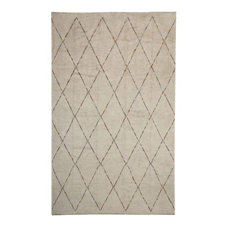 Contemporary Moroccan Style Rug With Organic Modern Style, 12'4 X 20'2 For Sale