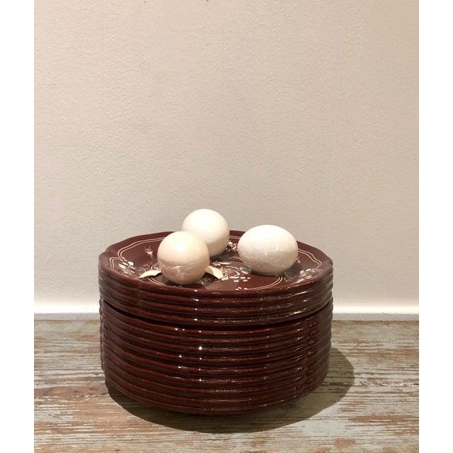 White Trompe l'Oeil Egg Container For Sale - Image 8 of 8