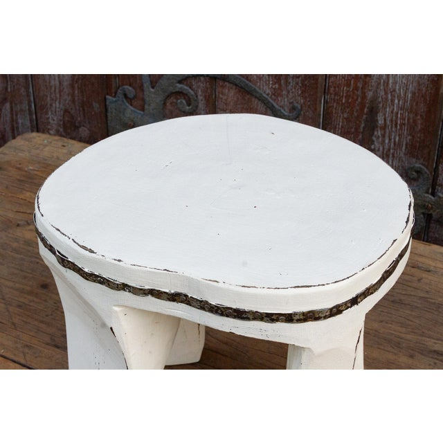 White Tribal Naga Stool For Sale - Image 4 of 8