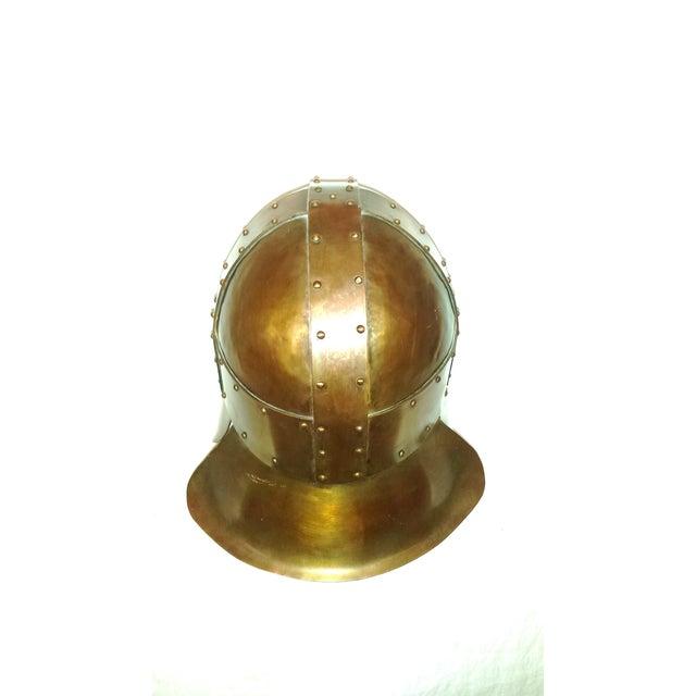 Medieval Brass & Copper Helmet - Image 5 of 7