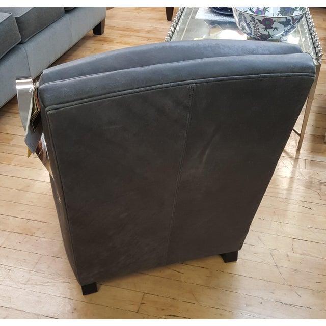 Bernhardt Bernhardt Markham Gray Upholstered Club Chair For Sale - Image 4 of 8