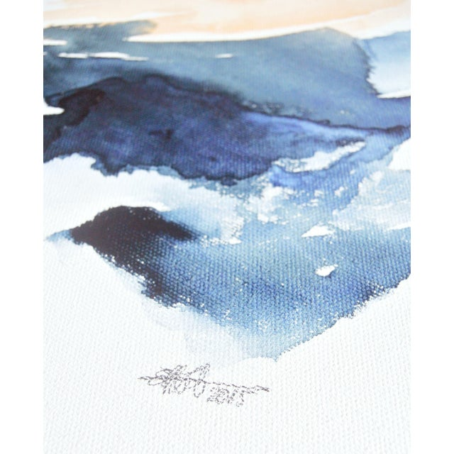 "Ellen Sherman ""Intersection I"" Watercolor Painting - Image 4 of 6"