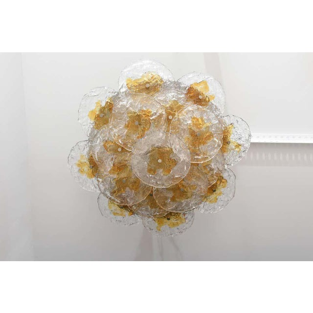 Mazzega Murano Mazzega Flushmount Chandelier in the Style of Carlo Nasan For Sale - Image 4 of 12