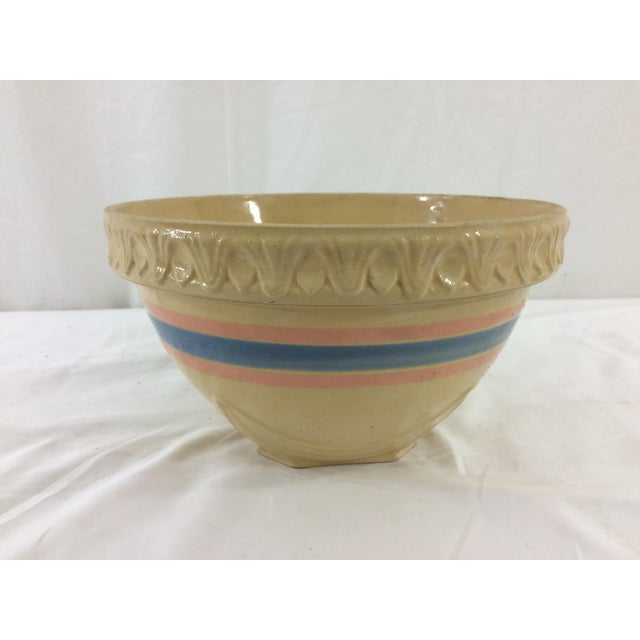 Ceramic Yellowware Bowl For Sale - Image 7 of 7
