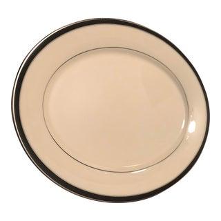 Lenox China- Black Royale Serving Platter For Sale