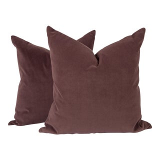 Plum Luxe Velvet Pillows, a Pair For Sale