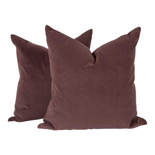 Plum Luxe Velvet Pillows, a Pair For Sale