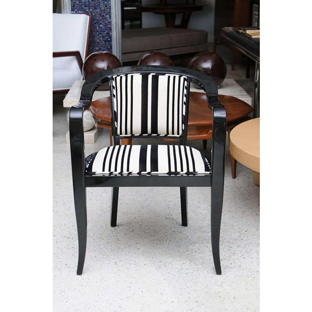Edward Wormley Set of Ten Ebonized Armchairs in the Style of Ed Wormley for Dunbar For Sale - Image 4 of 9