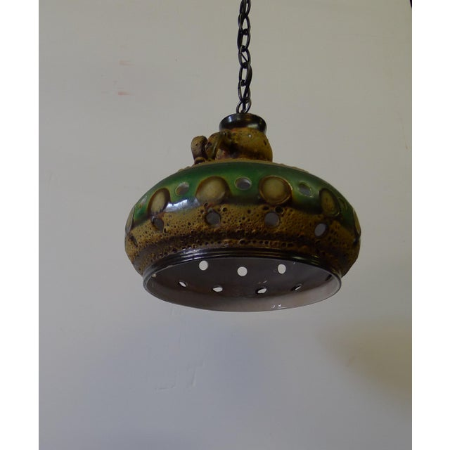 Mid 20th Century Vintage Danish Brutalist Mid Century Ceramic Pendant Light For Sale - Image 5 of 10