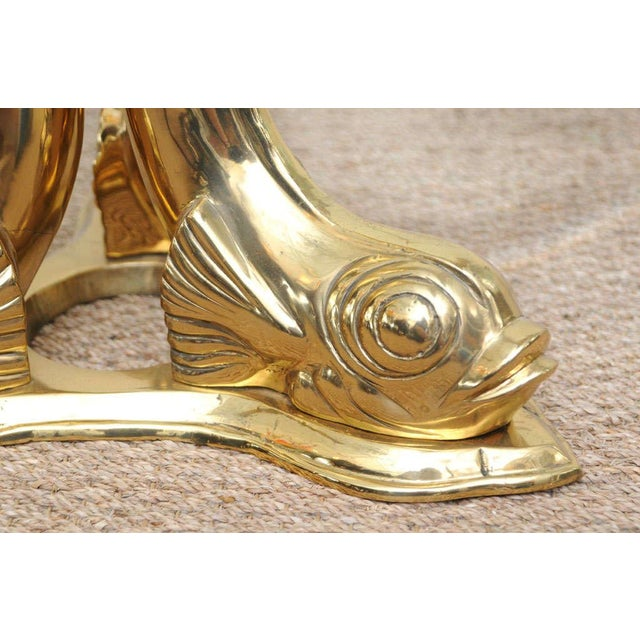 Brass Dolphin Coffee Table For Sale In Miami - Image 6 of 9