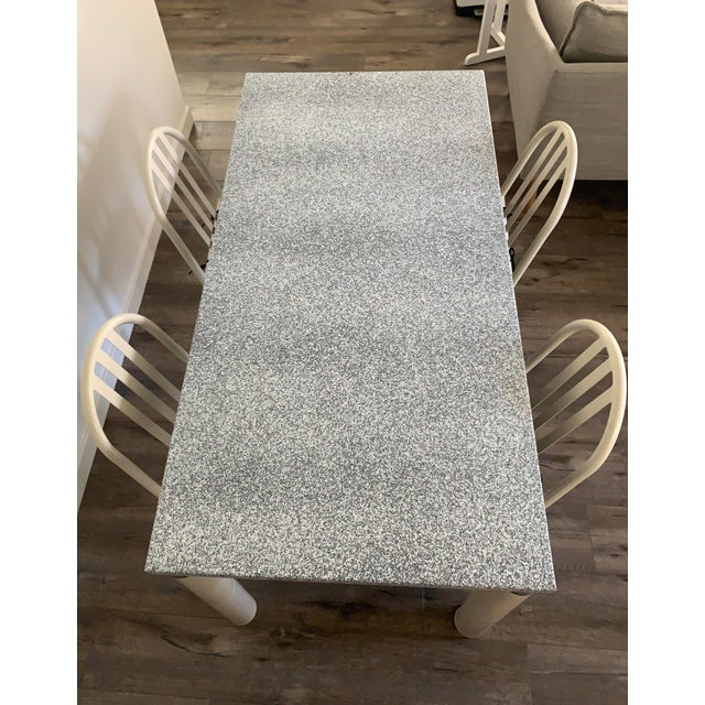 "White ""Elektrika"" Memphis Dining Table by Sacha Ketoff For Sale - Image 8 of 9"