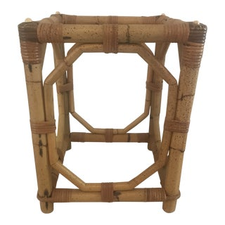 Boho Chic Solid Bamboo Side Table Base For Sale