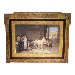 """""""The Last Hour of Pompeii - the House of the Poet"""" Joseph Coomans Etching on Canvas 1869 For Sale"""