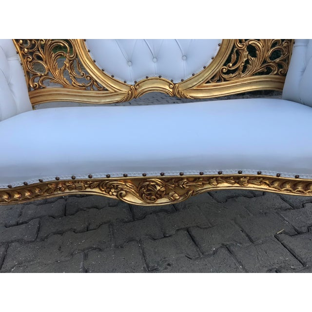 2010s French Louis XVI Style Settee For Sale - Image 5 of 12