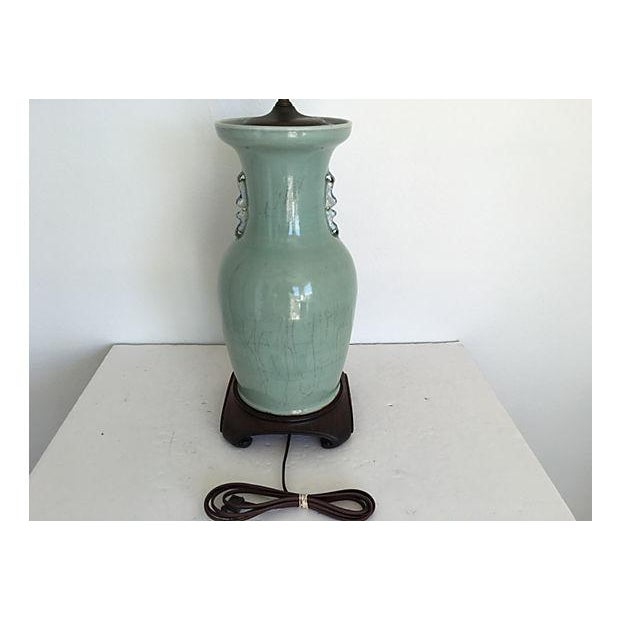 1940s Celadon Foo Dogs Lamp - Image 7 of 7