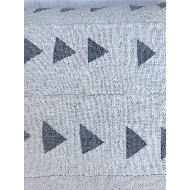 Grey & White Arrow Mud Cloth Textile Pillow - Image 3 of 6