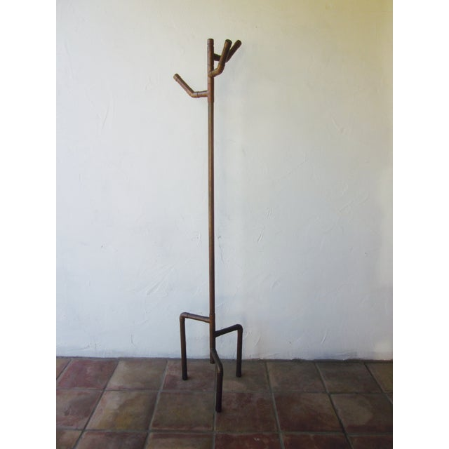 Modernist Copper Coat Rack Hat Tree - Image 2 of 11