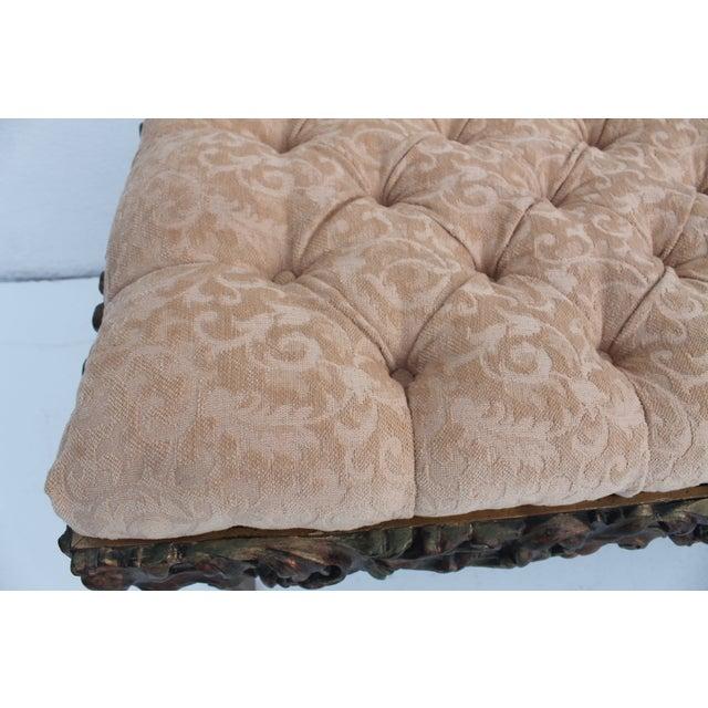 Dorothy Draper Regency-Style Tufted Bench For Sale - Image 5 of 9
