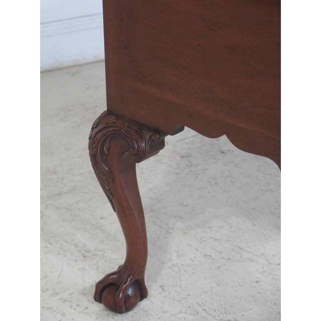 Kittinger CW-19 Colonial Williamsburg Clawfoot Mahogany Lowboy - Image 4 of 11