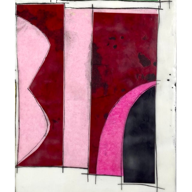 """Contemporary """"Getting Lost Together"""" Contemporary Abstract Encaustic Collage Painting by Gina Cochran For Sale - Image 3 of 6"""