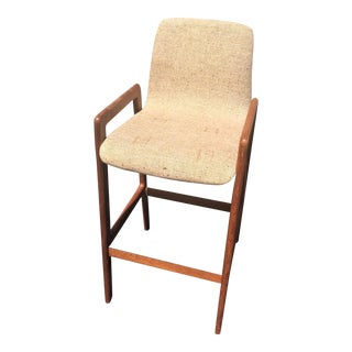 Danish Mid-Century Modern Teak Bar Stool For Sale