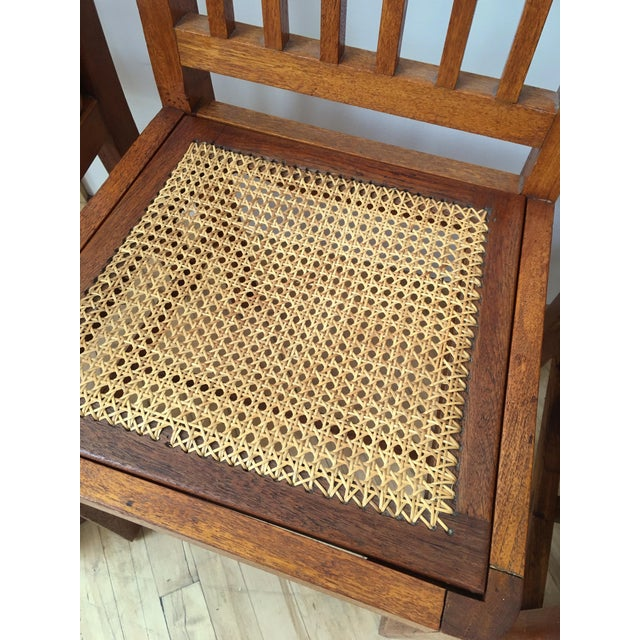 Antique Arts & Crafts Chairs- Hand Caned Craftsman Oak - Image 10 of 11