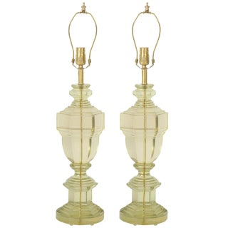 1950s French Translucent Resin Lamps - a Pair For Sale