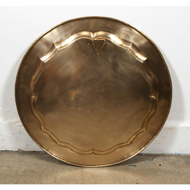 Anglo-Indian Round Brass Tray Wall Hanging For Sale - Image 9 of 10