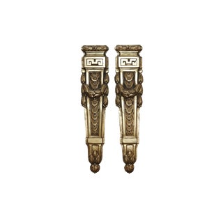 French Empire Brass Ormolu Mounts, a Pair For Sale