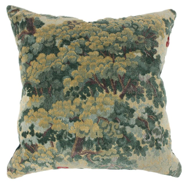 Lee Jofa Green Tapestry Throw Pillow For Sale - Image 4 of 4