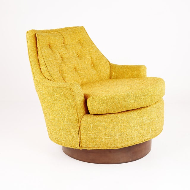 Adrian Pearsall Style Mid Century Swivel Lounge Chair For Sale - Image 10 of 10