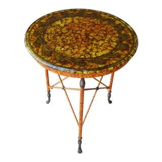 1990s Art Nouveau Kreiss Verre Églomisé Accent Table For Sale