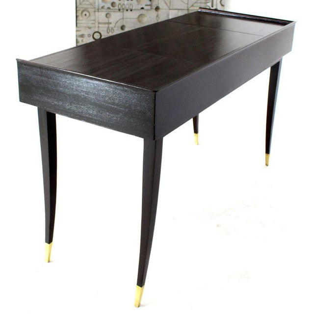 1950s Tommy Parzinger Charak Modern Small Desk Writing Table Console For Sale - Image 5 of 13