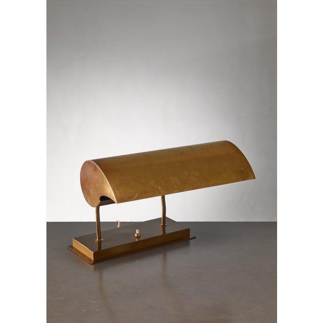 Angelo Lelli Brassdesk Lamp for Arredoluce, Italy For Sale - Image 10 of 10