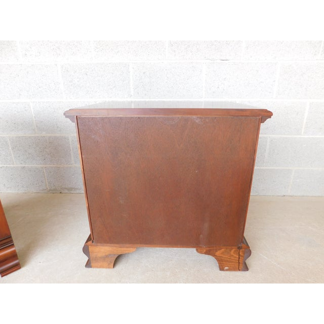 Pennsylvania House Chippendale Style Solid Cherry Nightstands - a Pair For Sale - Image 9 of 13