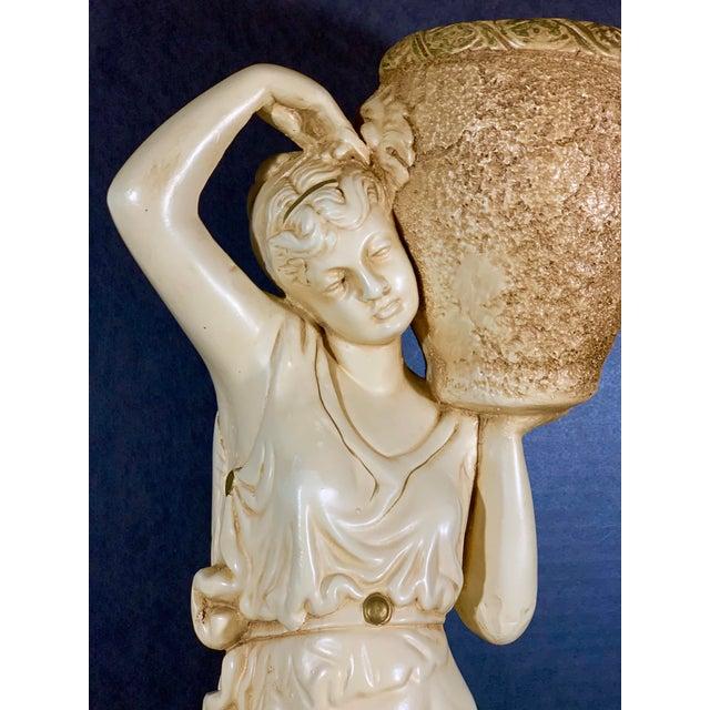 "Gorgeous vintage ""Venus with Amphora"" statue/cachepot from Nashville area estate collection. Heavy sculpted..."