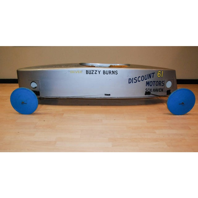 1980s 1980s Official Buzzy Burns Soap Box Derby Fiberglass Car For Sale - Image 5 of 11