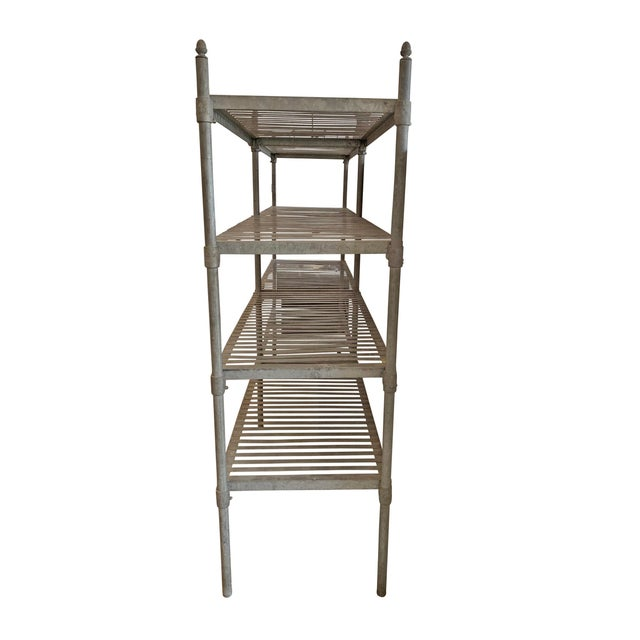 Industrial 20th Century French Industrial Galvanized Zinc Shelving For Sale - Image 3 of 10