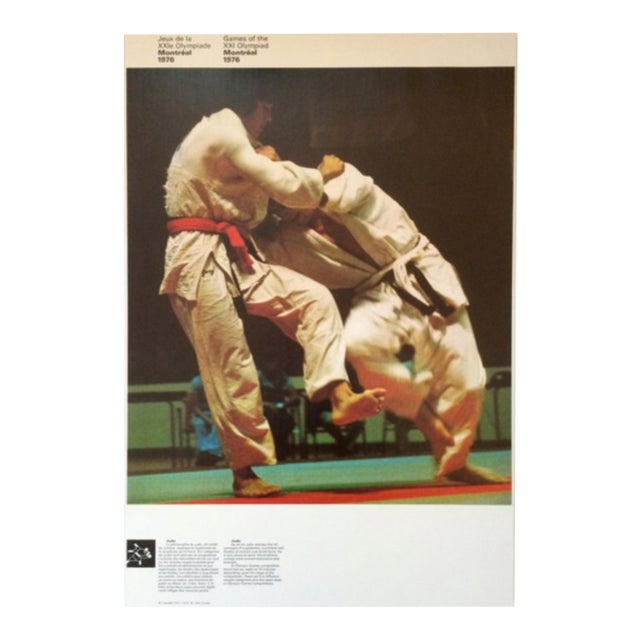 1976 Montreal Olympic Poster, Double-Sided, Judo/Swimming - Cojo For Sale