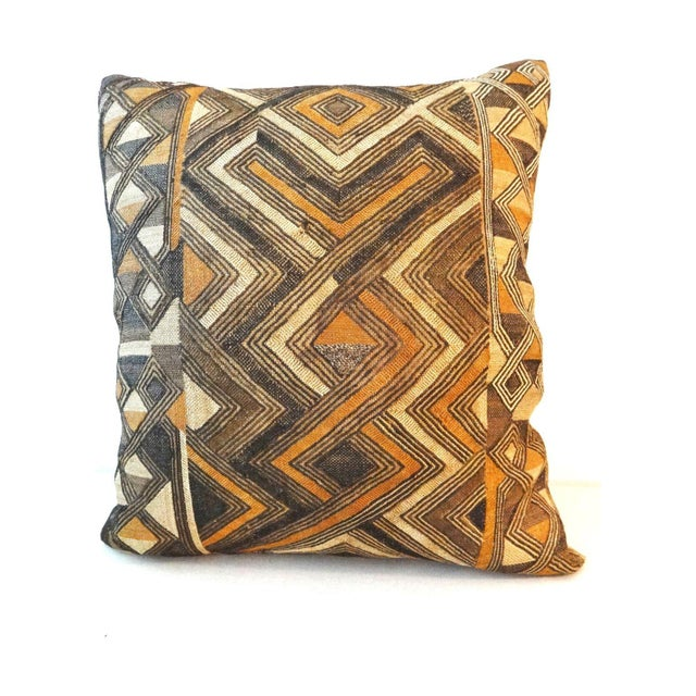 African Embroidered Kuba Textile Pillow - Image 6 of 7